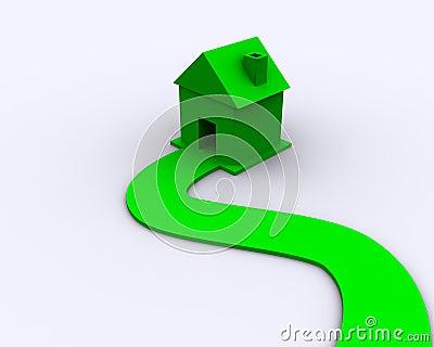 Eco house concept - green energy
