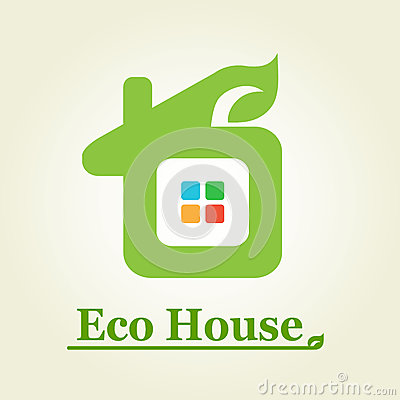 Eco house logotype.