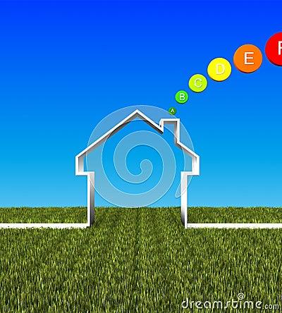 Eco house low energy background