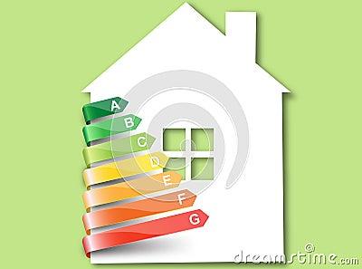 Eco house.Vector.