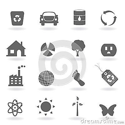 Free Eco Icon Set Stock Images - 16142184