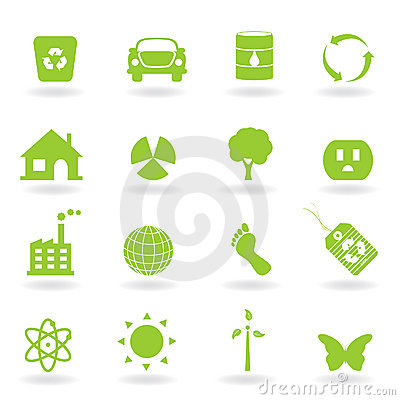 Free Eco Icon Set Stock Photography - 16325522