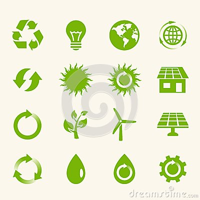 Eco Icon Set.