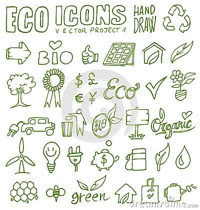 Eco icons hand draw 1