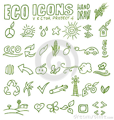Eco icons hand draw 4