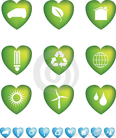 Eco icons heart