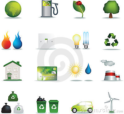 Eco icons realistic