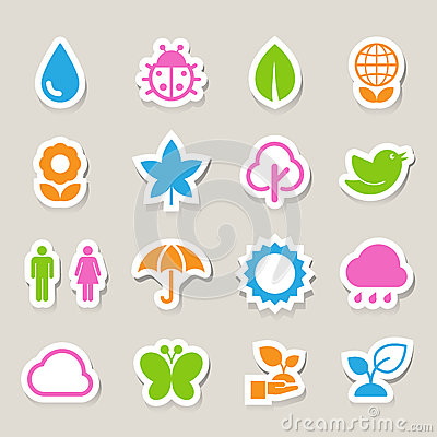 Eco icons set.
