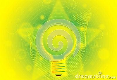 Eco lamp illustration