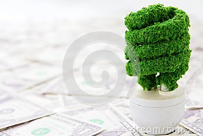 Eco light bulb concept