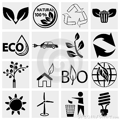 Free Eco Logical Icons Set Stock Image - 30111791