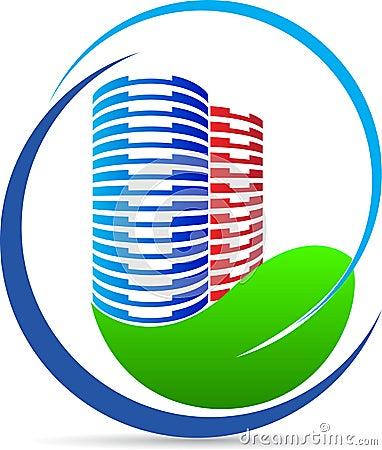 Eco nature building logo