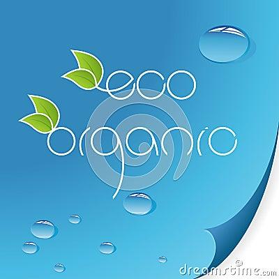 Eco and organic logos