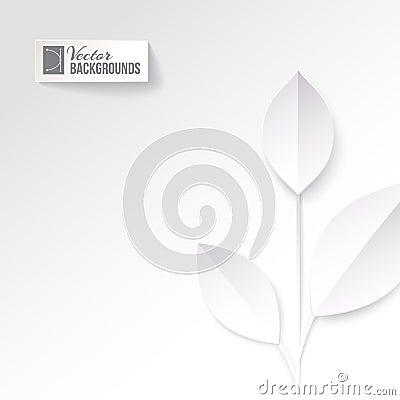 Eco origami leaf.