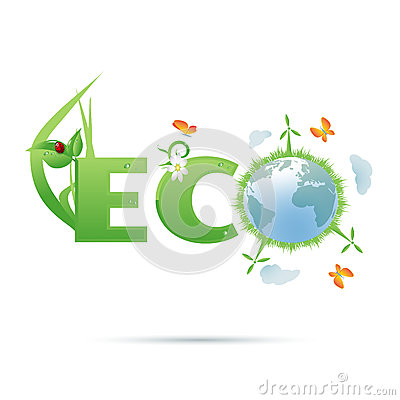 Free Eco-planet Text Symbol Royalty Free Stock Images - 27512119