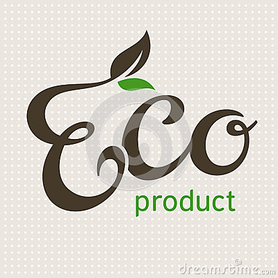 Eco product lettering