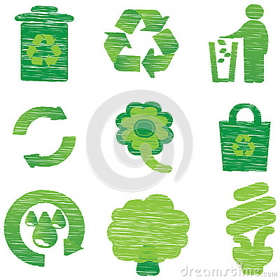 Eco & Recycle icons
