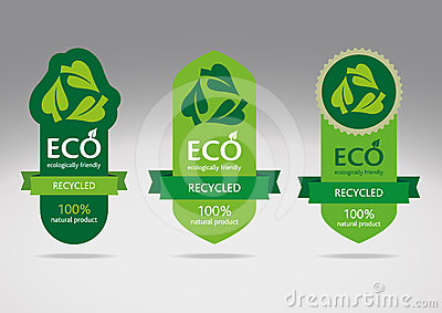 Eco recycle label set