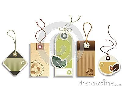 Eco réutilisent des étiquettes