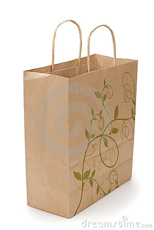Free Eco Shopping Bag On White Royalty Free Stock Images - 11412869