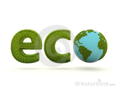 Eco sign with earth