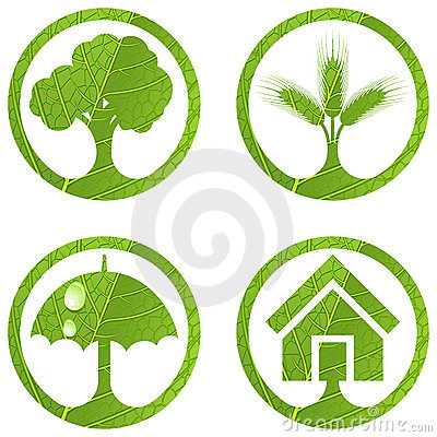 Eco signs. Set 4.