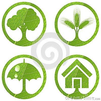 Eco signs. Set 4.