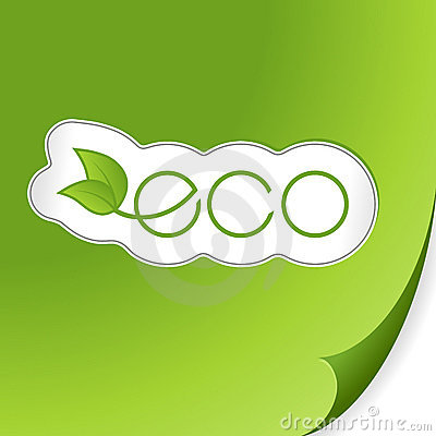 Free Eco Sticker. Vector Royalty Free Stock Photos - 11765258