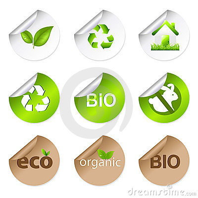 Eco Stickers. Vector
