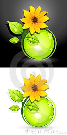 Free Eco Sunflower Buttons Stock Photo - 14783690