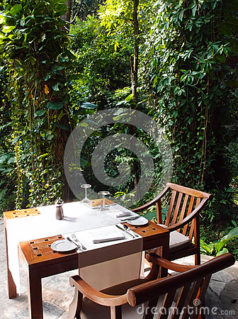 Eco tourism - Natural Outdoor dining area