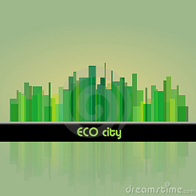 Eco town background