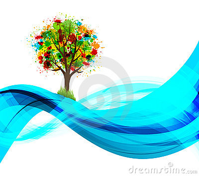 Eco tree background