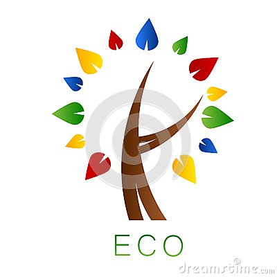 Eco tree. Logo