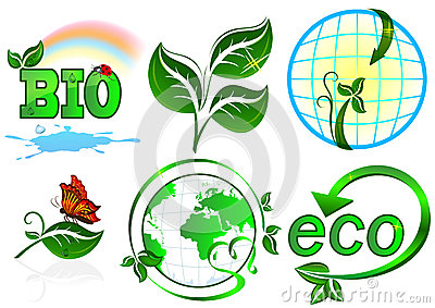 Eco vector set.