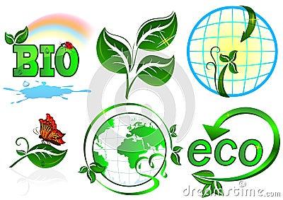Eco vector set.
