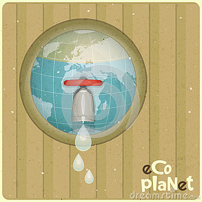 Eco water planet concept