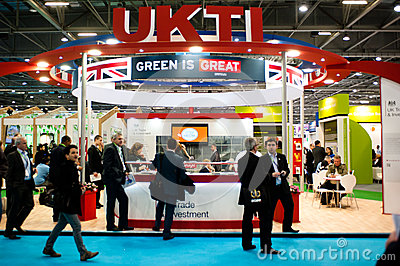 Businessmen visit a business fair in the UK Editorial Photography