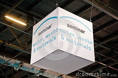 Water, waste and materials seminar banner Editorial Photo