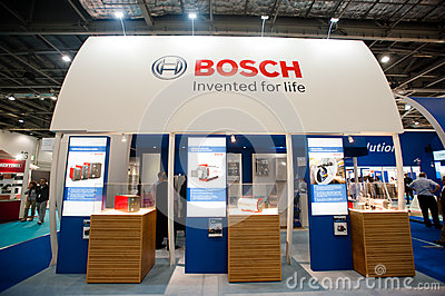 Bosch booth Editorial Image