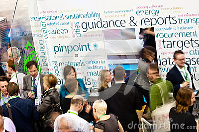 People networking and discussing business Editorial Stock Photo