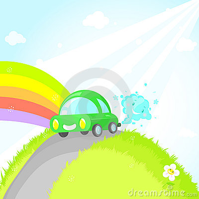Free Ecocar. Save Your Planet! Stock Photography - 9545482
