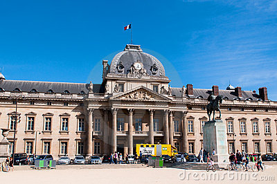 The Ecole Militaire (Military School) Editorial Stock Photo