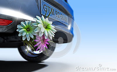 Ecologic fuel concept with flowers