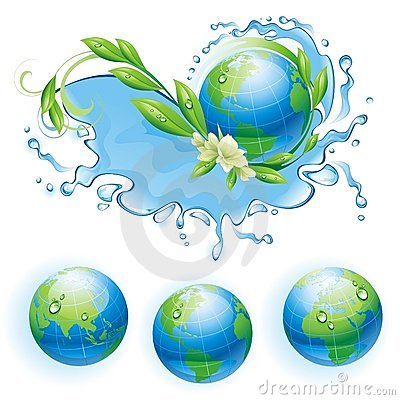 Ecological background with the globe.
