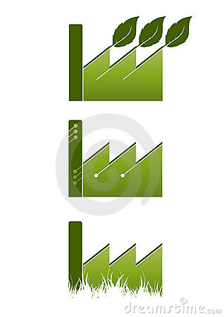 Ecological factory icons