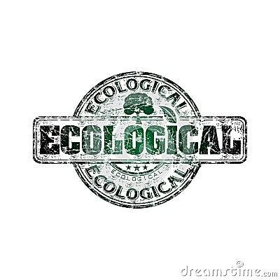 Ecological grunge rubber stamp