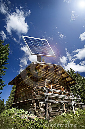 Ecological house with photovoltaic panels