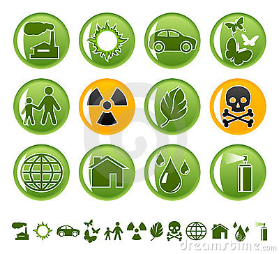 Free Ecological Icons Royalty Free Stock Photography - 5699357