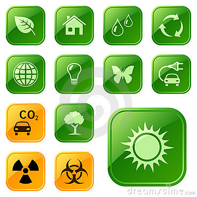 Free Ecological Icons / Buttons Stock Photo - 12860200